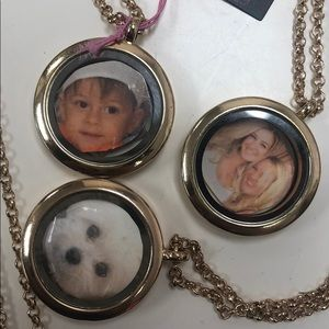 Two Sided Glass Magnetic Locket Necklaces, NWT